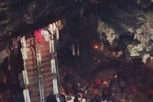 कोरोना सङ्क्रमित घटेपछि हलेसी मन्दिर खुलाइयो